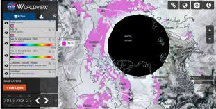 Arktyczny lód morski 27 lutego 2016